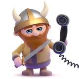 call center för 3d Viking Arkivbild