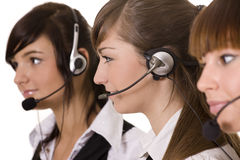 Call center felice Fotografia Stock Libera da Diritti