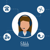 Call center female agent line support Royalty Free Stock Photography