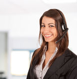 Call center female operator Stock Photos