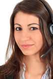 Call center female operator Royalty Free Stock Photo