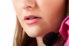 Call center female operator Royalty Free Stock Image