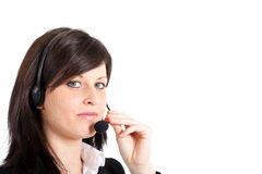 Call center female operator Royalty Free Stock Images