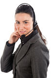 Call center female operator Stock Photography