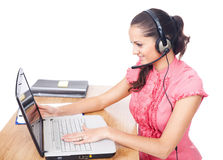 Call center female operator Stock Photography
