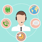 Call center. Flat design, vector illustration, vector vector illustration