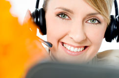 Call center friendly operator Stock Image