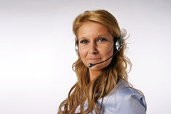 Call center girl Stock Photos