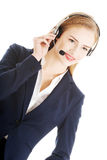 Call center girl. Royalty Free Stock Photography