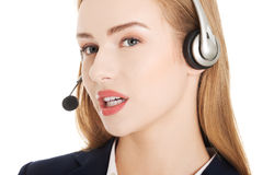Call center girl. Royalty Free Stock Image
