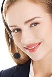 Call center girl. Royalty Free Stock Photo