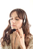 Call center girl isolated Stock Photo