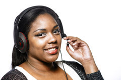 Call center girl Stock Images