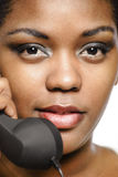 Call center girl Royalty Free Stock Images