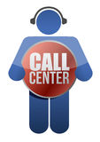 Call center icon Royalty Free Stock Images