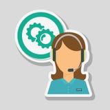 Call center icon design, vector illustration Stock Photos