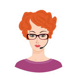 Call center Icon. Female social profile. Stock Photo
