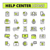 Call Center Icons Set Stock Photography
