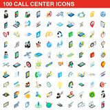 100 call center icons set, isometric 3d style. 100 call center icons set in isometric 3d style for any design illustration vector illustration