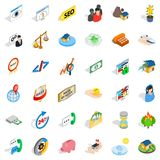 Call center icons set, isometric style. Call center icons set. Isometric style of 36 call center vector icons for web isolated on white background Stock Photos