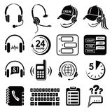 Call center icons set, simple style Stock Images