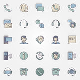 Call center icons set Stock Images