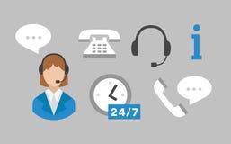 Call center icons vector set Stock Photos