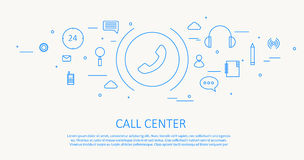 Call center. Illustration of call center Royalty Free Stock Photos