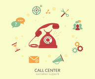 Call center vector illustration