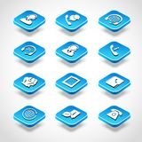 Call Center Isometric Icons Royalty Free Stock Photos