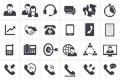24 Call-Center-Kommunikations-Ikonen lizenzfreie abbildung