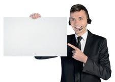 Call center man Royalty Free Stock Photos