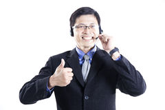 Call center man operator Stock Photography