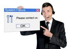 Call center man Stock Photo