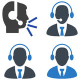 Call Center Manager Flat Icons Stock Photo