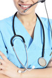 Call center medica Fotografia Stock Libera da Diritti