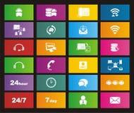 Call center metro style icon Stock Image