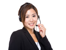 Call center officer Royalty Free Stock Photos