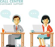 Call center online customer support people Royalty Free Stock Photo