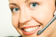 Call center operatator Stock Photo