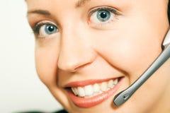 Call center operatator Stock Photo