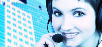 CALL CENTER OPERATOR Royalty Free Stock Image