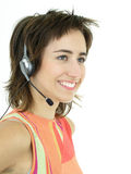 Call center operator. Smiling Royalty Free Stock Photo