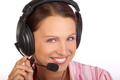 Call Center Operator Stock Image