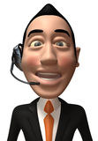 Call center operator. With headset Stock Photography