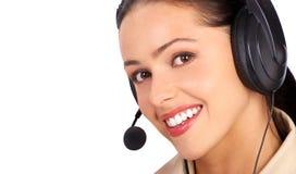Call Center Operator stock image