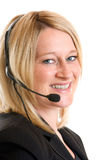 Call Center Operator. Express happiness Royalty Free Stock Image
