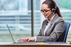 The call center operator in business concept Royalty Free Stock Photo
