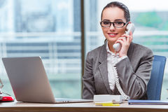The call center operator in business concept Royalty Free Stock Photos