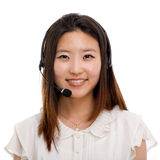 Call center operator business woman. Royalty Free Stock Photography